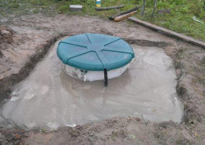 Утепление и бетонирование пластикового кессона Дочиста