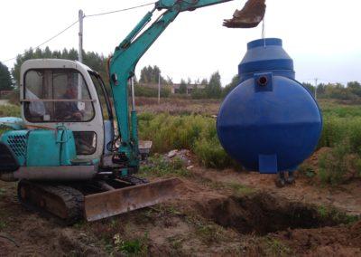 Монтаж автономной канализации Дочиста Профи 8 ПР в Кузнечихе (Ярославская область).