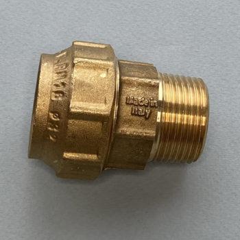 Муфта латунная компрессионная 1″ х 32 мм. наружная резьба, General Fitings (Италия)