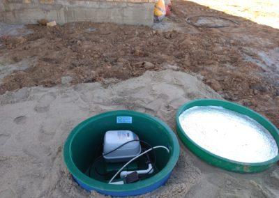 Автономная канализация готова к использованию.